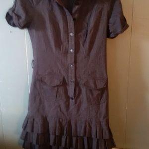 Let chateau  work fringe bottom dress